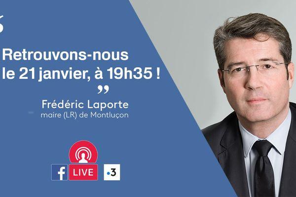 Frédéric Laporte, Maire (LR) de Montluçon (Allier) répondra à vos questions à l'occasion d'un Facebook Live de France 3 Auvergne, lundi 21 janvier, à partir de 19H35.