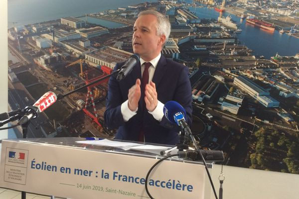 François de Rugy, le 14 juin 2019 à Saint-Nazaire