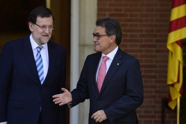 Le chef du gouvernement espagnol, Mariano Rajoy et le président Artur Mas ont discuté de l'organisation d'un référendum sur l'indépendance de la Catalogne. Madrid le 30 juillet 2014.