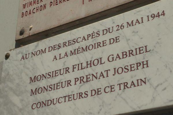 Une plaque pour honorer mémoire de deux cheminots ... leur acte de désobéissance a permis de sauver 600 enfants. Ils ont reçu un blâme et ... une prime !