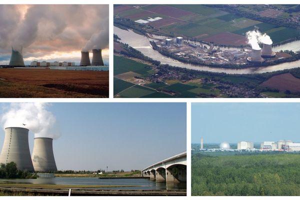 Centrales nucléaires de Dampierre-en-Burly (Loiret), Saint-Laurent-des-Eaux (Loir-et-Cher), Belleville-sur-Loire (Cher), Chinon (Indre-et-Loire)