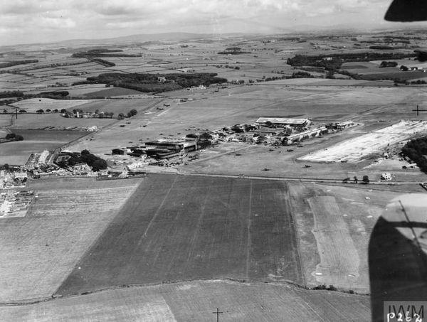 L'aérodrome de Prestwick, en Ecosse, pendant la Seconde Guerre mondiale.