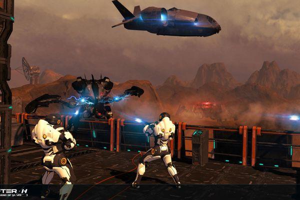 Aperçu du jeu auquel s'adonnent les participants venant jouer à l'espace EVA : After-H, un jeu de tir.