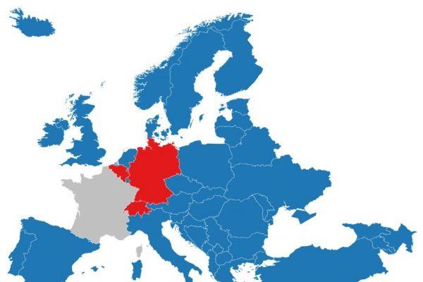 Carte des pays européens classant l'Occitanie en zone à risque.
