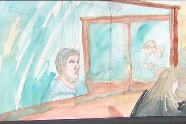 Mark Van Nierop à son procès devant le tribunal correctionnel de Nevers, dans la Nièvre