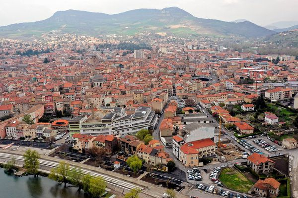 Vue aérienne de Millau