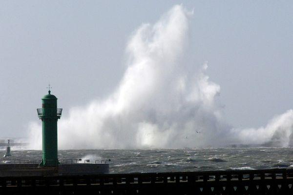 Une précédente tempête à Boulogne-sur-Mer.