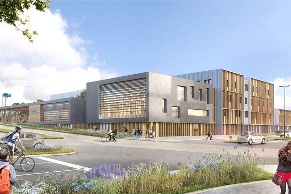 Le nouveau lycée de la Région Auvergne-Rhône-Alpes ouvrira ses portes à la rentrée en septembre 2022.