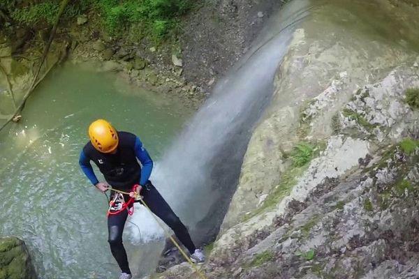 Le Canyon de Tréfond-Pernaz, une descente bien connue des passionnés dans l'Ain / © DR