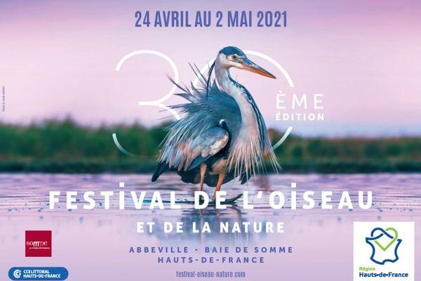 Affiche du 30e festival de l'oiseau et de la nature - 2021