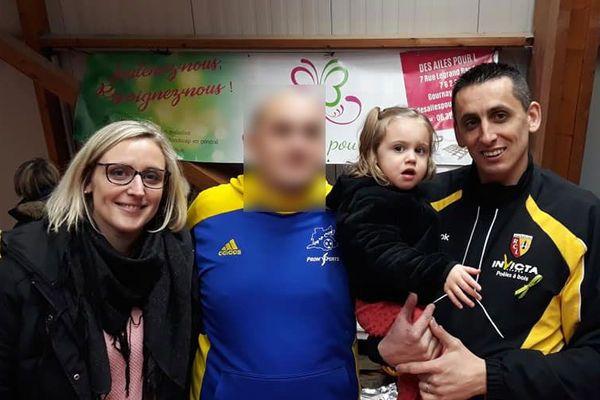La famille Allard, lors d'un tournoi organisé début janvier 2019 pour l'association Des Ailes pour L