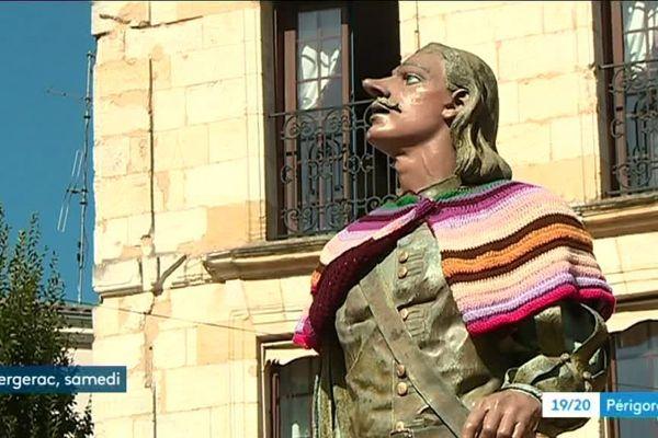 Pour la première de Vigne en Ville, même Cyrano avait revêtu les couleurs de la vigne et du vin