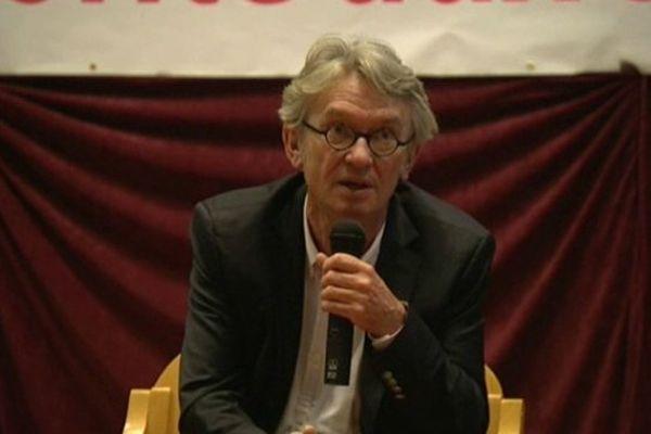 Jean-Claude Mailly, le secrétaire général de FO, lors de la réunion de Voiron.