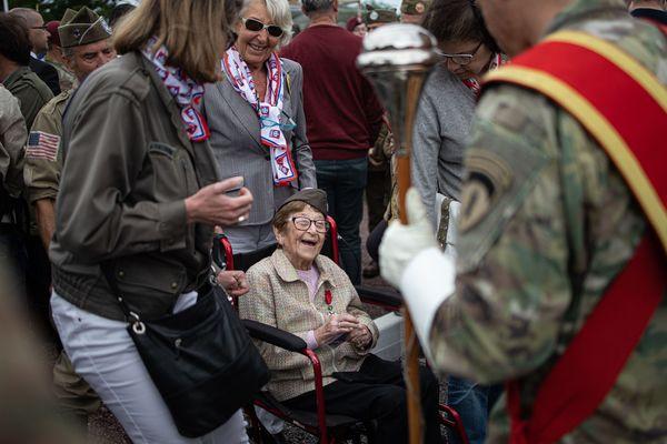 Ellan Levitsky était revenue dans le Cotentin en juin dernier à l'occasion du 75e anniversaire du débarquyement