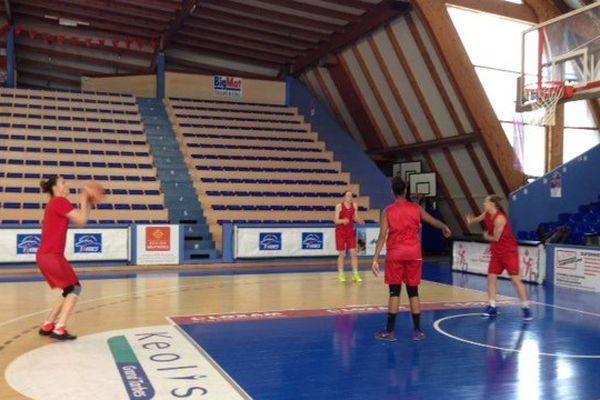 Les basketteuses du TGB à l'entraînement jeudi 14 Avril 2016