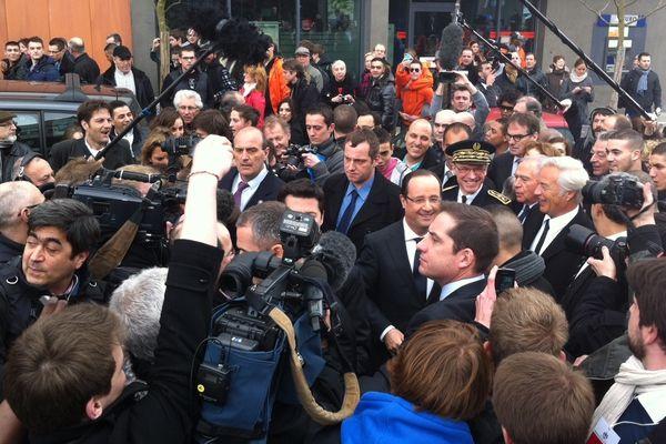 François Hollande est arrivé peu avant 14h à Dijon
