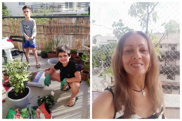 A Schiltigheim, Marcia envoie des photos de ses enfants (à gauche) via Whatsapp à sa mère Edna, qui vit à Rio de Janeiro (à droite)