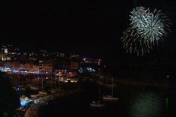 Le feu d'artifice du 14 juillet à Bastia