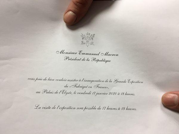 L'invitation du président de la république à l'équipe du moulin à couleurs pour une mise en lumière de leur travail