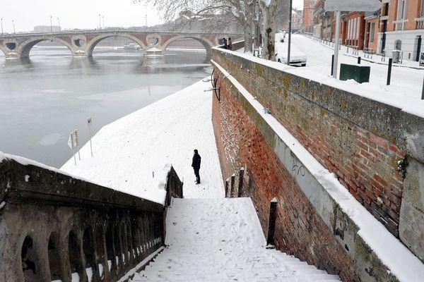 Toulouse sous la neige en février 2012