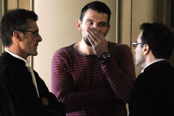 Montpellier : Primoz Prost au palais de justice avec ses avocats - 16 octobre 2012.