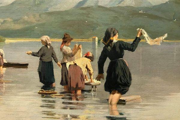 Pinterest Eugenio Cecconi (Livorno 1842 - Torre del Lago 1903) Le lavandaie a Torre del lago (1880)