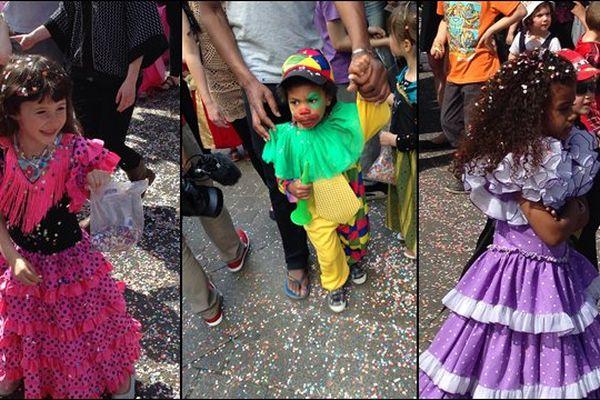 Beaucoup de monde pour le carnaval des enfants à Nantes ce mercredi après-midi