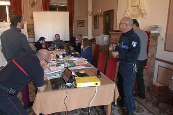 Un poste de commandementsdes secours est installé à la mairie de Forcalquier.
