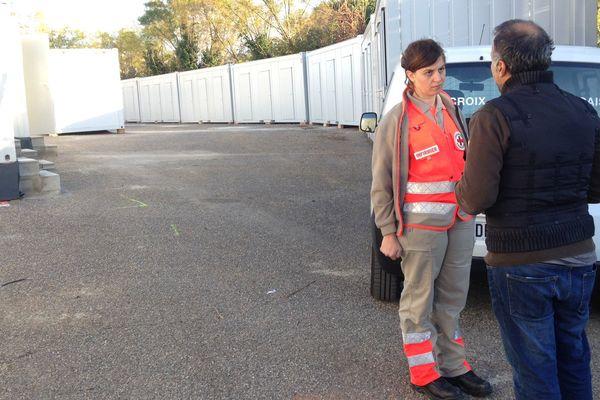 Les 51 Soudanais, Erythréens et Afghans  seront logés dans ces pré-fabriqués du centre d'accueil et d'orientation (CAO) rue Marconi, à Montpellier (28/10/16)