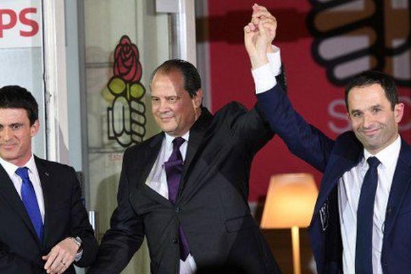 Manuel Valls, Jean-Christophe Cambadélis et Benoît Hamon.