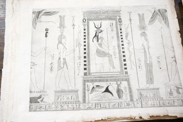 L'une des pages du Thesaurum Hyeroglyphicorum (1610) découvert dans la réserve de la bibliothèque d'Ajaccio.