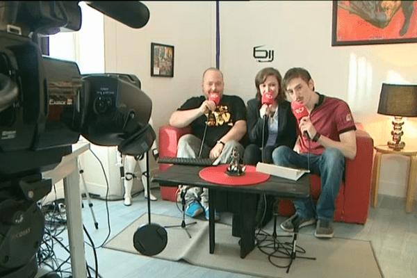 """Xavier, Marjorie et Fabien, les trois animateurs de l'émission """"Génération geek"""""""