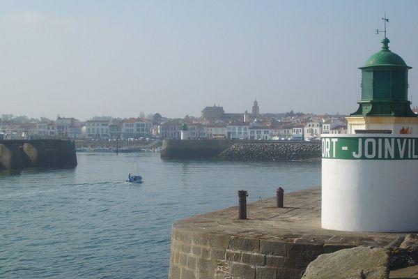 Île d'yeu, l'entrée du port Joinville