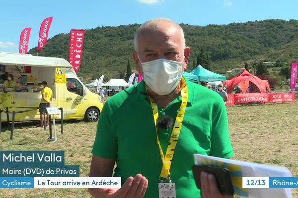 Le maire de Privas, déçu de voir la grande fête du Tour rognée par les mesures de protection sanitaires.