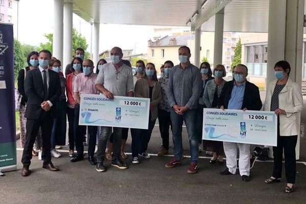 Des personnels de la CAF Haute-Vienne en soutien aux soignants