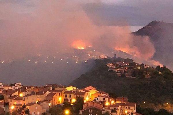 Le feu a pris avant le lever du jour au quartier haut de la Salette à Banyuls-sur-Mer - 5 septembre 2019.