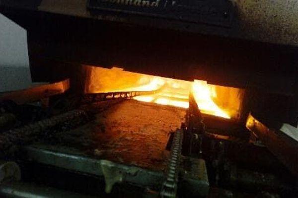 L'incendie a eu lieu dans l'un des deux fours industriels de la biscuiterie Les Ecureuils
