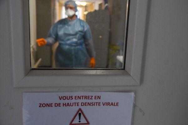 ILLUSTRATION. Le service Covid-19 de l'hôpital de Bastia, ici le 23 avril.
