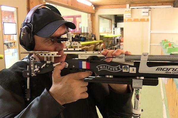 Derniers jours de préparation à Belfort pour le tireur comtois Alain Quittet avant de s'envoler pour Tokyo où il participera aux Jeux Paralympiques.