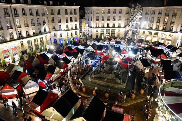 En 2018, le marché de Noël place Royale à Nantes
