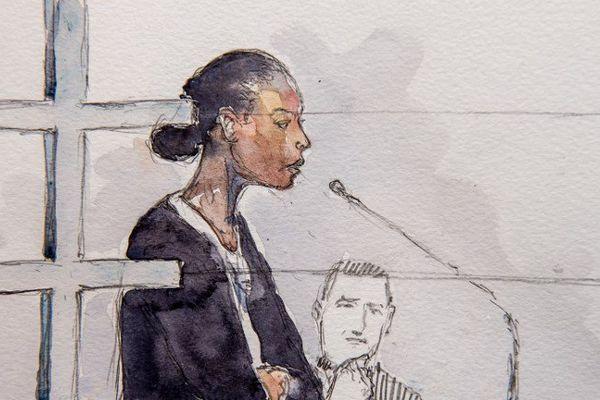 Fabienne Kabou, lors du premier procès.