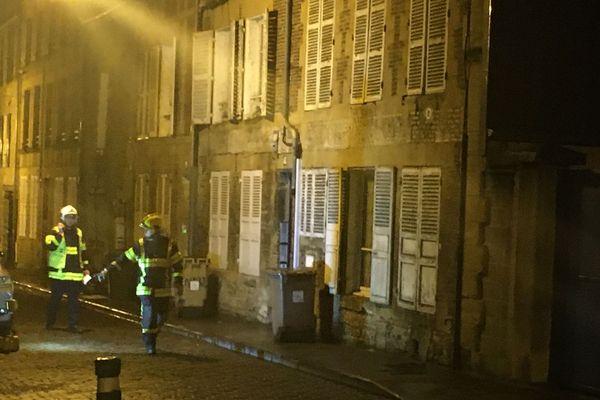 Les pompiers sont sur place à Charleville.