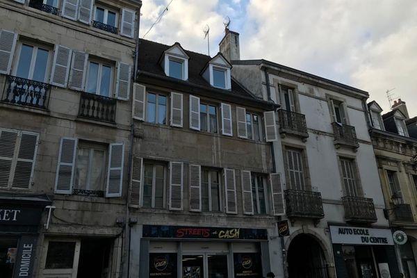 L'appartement d'Anthony Moussu situé Rue Jean-Jacques Rouseau à Dijon où est organisé un concert ce vendredi 4 mars 2021