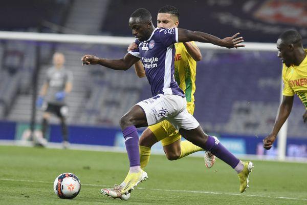 Toulouse - Le latéral gauche colombien Delver Machado a marqué le seul but toulousain de la rencontre. 27 mai 2021.