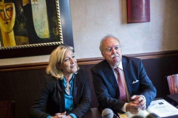 Wallerand de Saint Just et Marine Le Pen