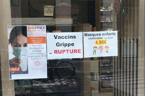 C'est la rupture de stock dans plusieurs pharmacies de Lyon et du département du Rhône. Le vaccin de la grippe n'est plus disponible dans certaines officines ce 21 octobre 2020.