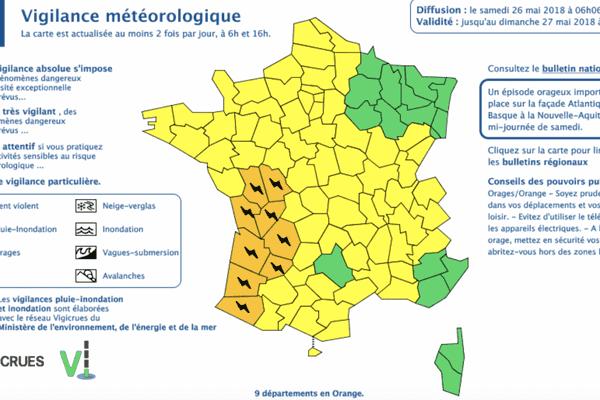 attention : vigilance orange aux orages ce samedi