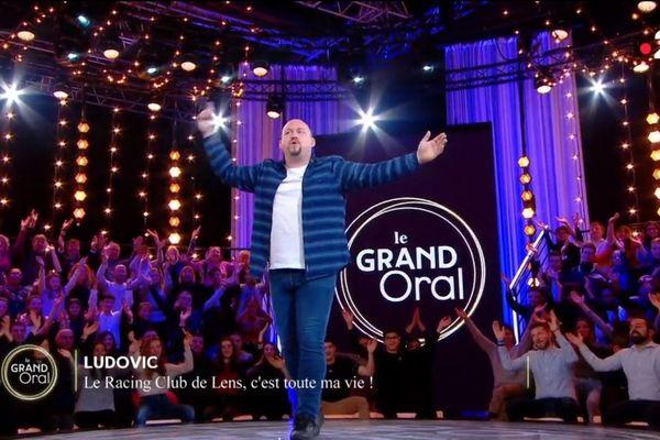 """Ludovic a lancé un clapping en faveur du RC Lens dans l'émission """"Le Grand Oral""""."""
