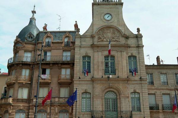 La mairie de Béziers, dans l'Hérault.
