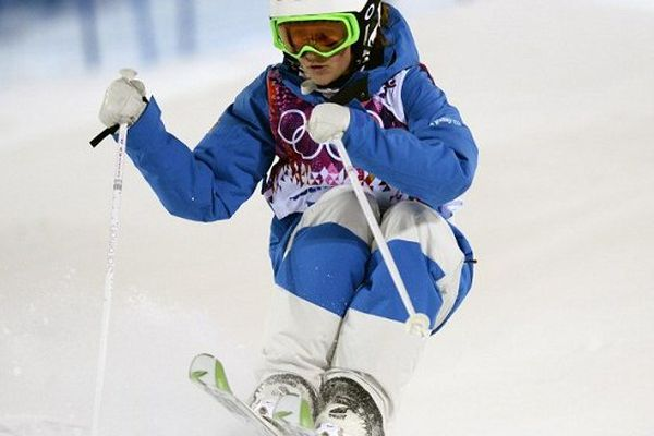Perrine Laffont dans l'épreuve de qualification à Sotchi